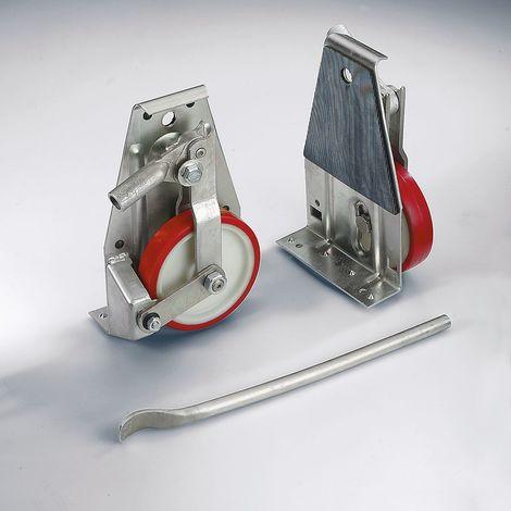 Rouleur-élévateur - roues à bandage polyuréthane, 2 rouleurs et 1 levier compris dans la livraison - force 1000 kg./ jeu