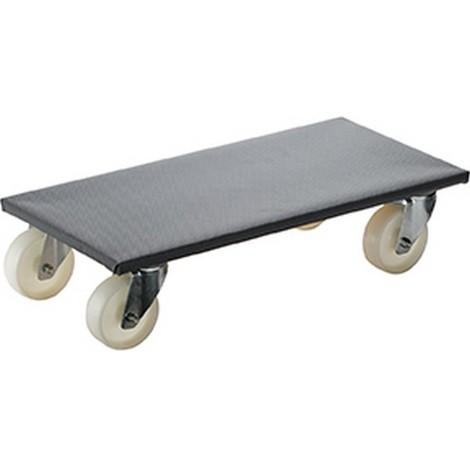 Rouleur multi-usage, Capacité : 500 kg, Larg. : de plaque 350 x 600 mm, Encombrement en hauteur 145 mm, Ø de roue : 100 mm