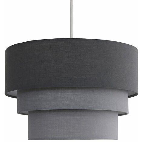 Round 3 Tier Fabric Ceiling Pendant Lamp Light Shade