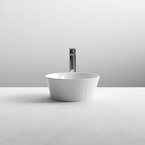 Round 360mm Sit-On Countertop Vessel Basin