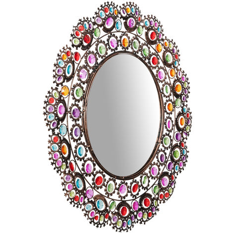 Round 61 cm diamter sized hanging Dressing table Mirror
