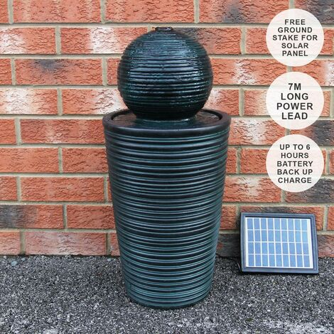 """main image of """"Round Ball Solar Water Feature"""""""