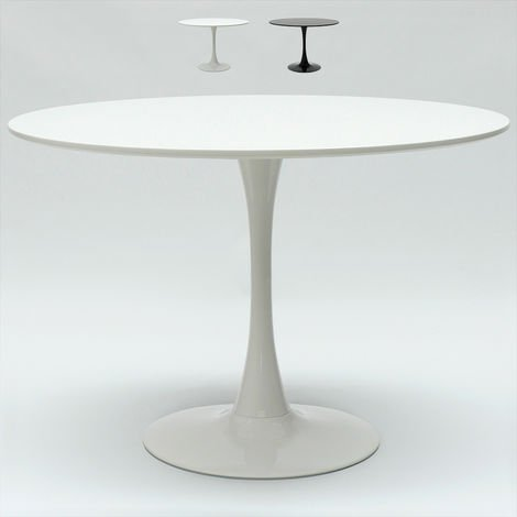 Round Bar and Kitchen Table 120 cm Black or White TULIP 120