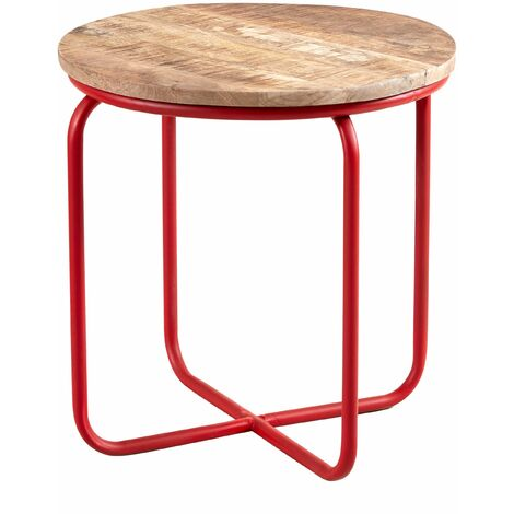 """main image of """"Round Bar Stool made from Reclaimed Metal and Solid Wood"""""""