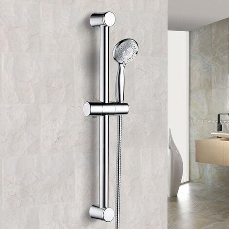 """main image of """"Round Bathroom Shower Slider Rail Kit, Handset & Shower Hose Chrome"""""""