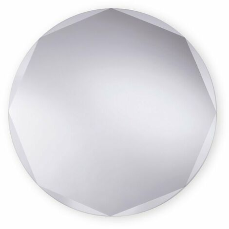 Round Bevelled Edge Bathroom Mirror 580mm x 580mm Wall Mounted Stylish Versatile