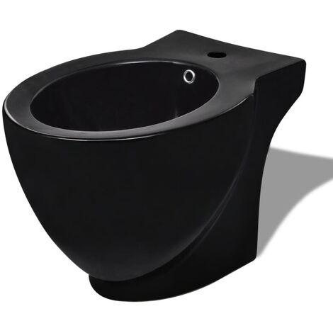 Round Bidet Stand Black High-quality Ceramic