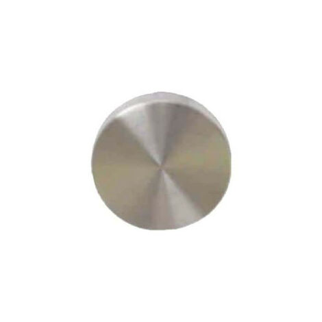 Round blind roses - matt brushed stainless steel finish - diameter 54mm x2