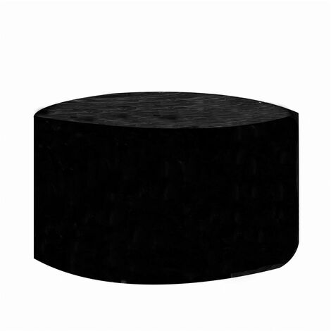 Round Cover Outdoor Waterproof Garden Furniture Covers Black