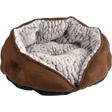Round cushion ø 45 x 24 cm. Snoozzy brown. for cats