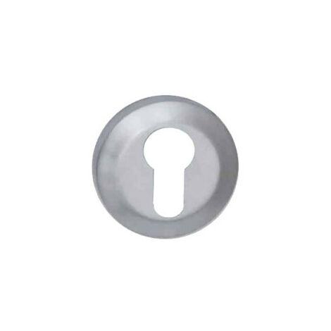 Round cylinder rose Aluminium - Metro - Pearl chrome finish