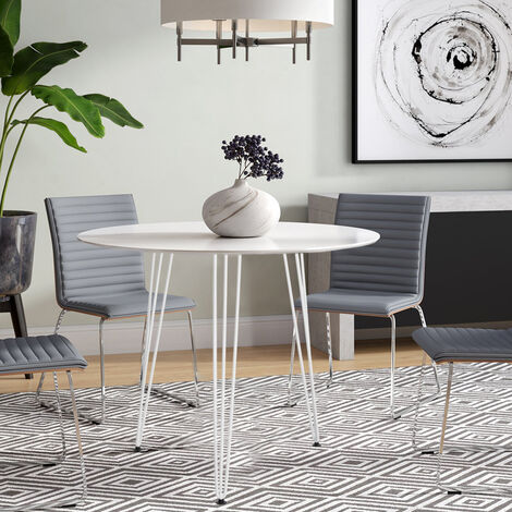 Round Dining Table 80x80x75 cm White
