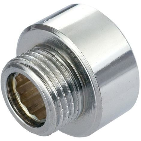 "Round Female x Male Pipe Connection Reduction Fittings Chrome 3/4"" x 1/2"" BSP"