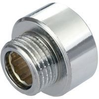 """Round Female x Male Pipe Connection Reduction Fittings Chrome 3/4"""" x 1/2"""" BSP"""