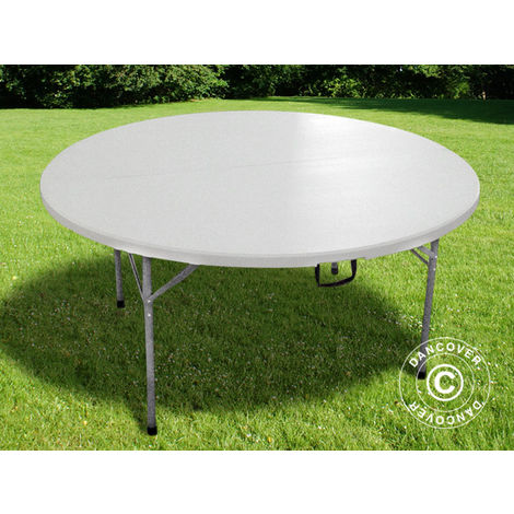 Peachy Round Folding Table Plastic Table Pro O152 Cm 8 Chairs Home Remodeling Inspirations Basidirectenergyitoicom