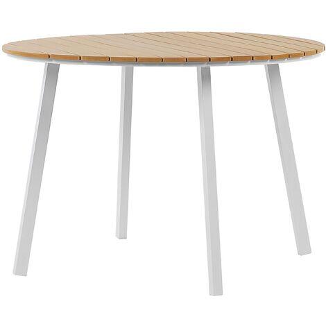 Round Garden Dining Table ø 105 cm Brown CAVOLI