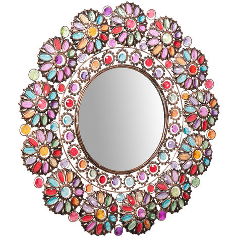 Round Hanging Wall Mirror diam. 73 cm sized