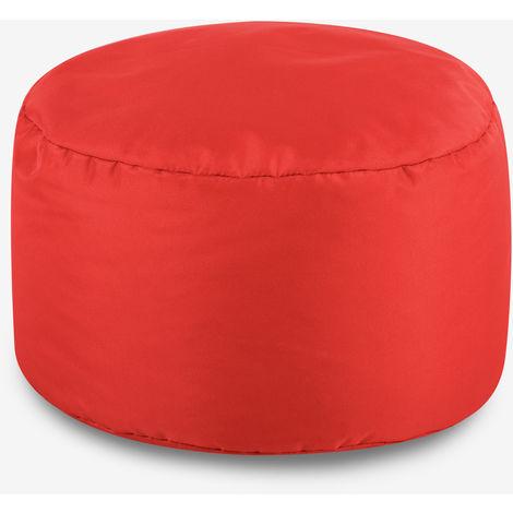 Round Indoor Outdoor Footstool - 38cm x 20cm - Water Resistant Pouffe