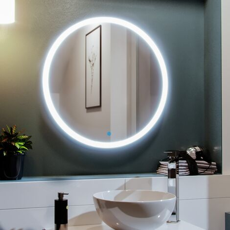 Round LED 600 x 600mm Bathroom Mirror