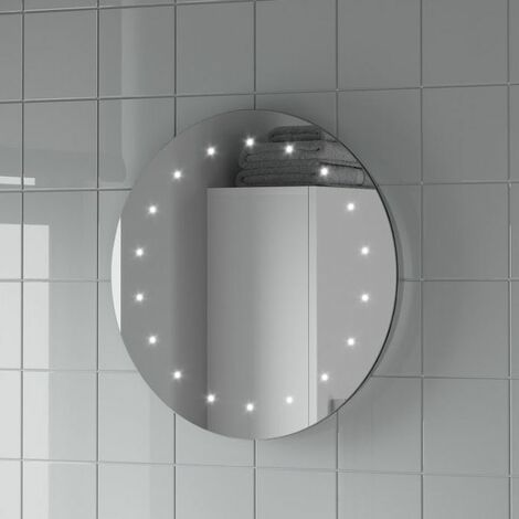 Round LED ILLUMINATED Bathroom Mirror Modern Light Mains Powered Circle 500mm
