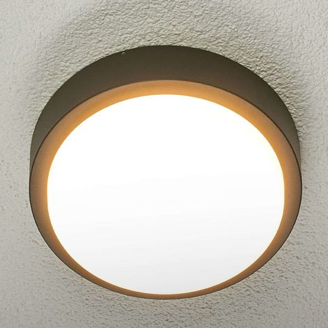 Round LED outdoor wall light Maxine