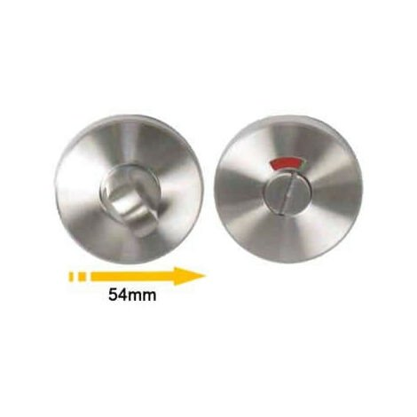 Round lockable roses with sight glass - matt brushed stainless steel finish - diameter 54mm x2