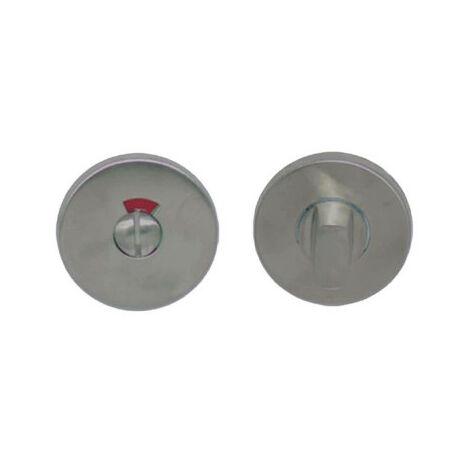 Round locking roses with economic sight glass - matt brushed stainless steel finish x2