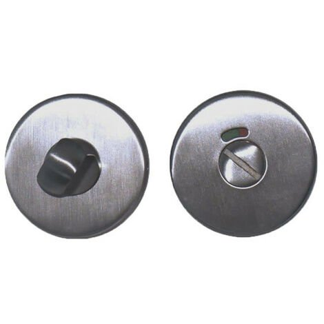 Round locking roses with sight glass - for fire doors - stainless steel 304 brushed matt