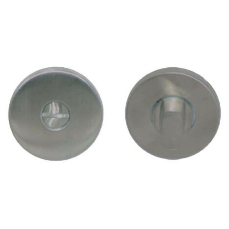 Round locking roses without sight glass - stainless steel 304 brushed matt