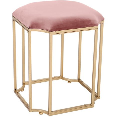 Round Makeup Dressing Table Stool Dresser Chair Velvet Elegant Piano Seat