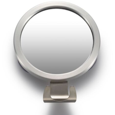 """main image of """"Round Mirror Aluminum Alloy with Bathroom Suction With Anti-Fog Mirror With Crochet Punch"""""""