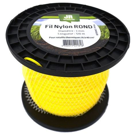 Round Nylon Trimmer-Line - Replacement Strimmer Line - 3mm x 120m -JR FNY026