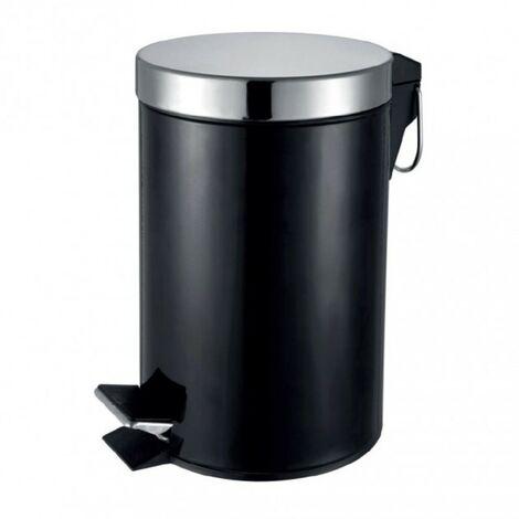 Round Pedal Waste Bin 3L - Black