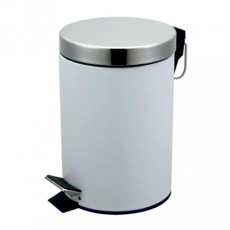 Round Pedal Waste Bin 3L - White