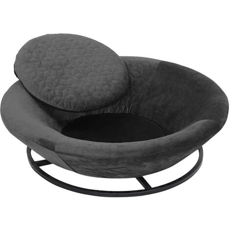 Round Pet Bed Dog Puppy Cat Kitten Soft Couch Bed Mat with Cushion