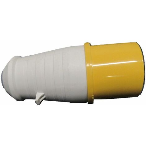 """main image of """"Round Plug 32A 3 Pin - 130V Yellow Industrial Caravan Construction Connector"""""""