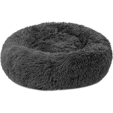 Round Plush Basket for Cat and Dog Donut Shape