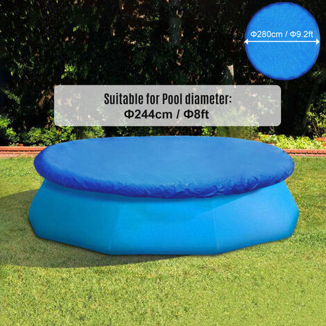 """main image of """"Round Pool Cover Water Resistant PE Portable Protective Swimming Pool Cover,model:Blue 15FT"""""""