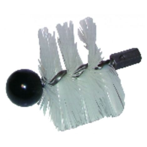Round roller brush cmv nylon ø 125 mm