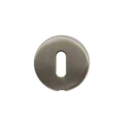 Round roses with key I - matt nickel-plated finish - diameter 51mm x2
