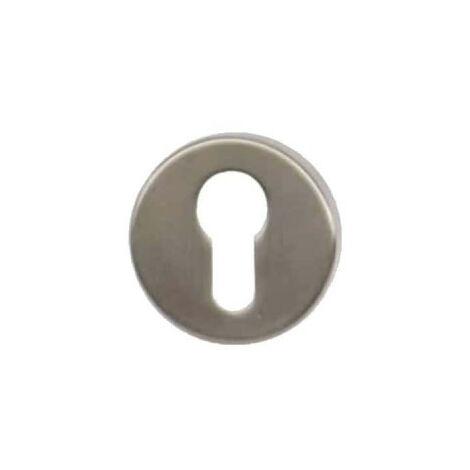 Round roses with key L - matt nickel plated finish - diameter 51mm x2