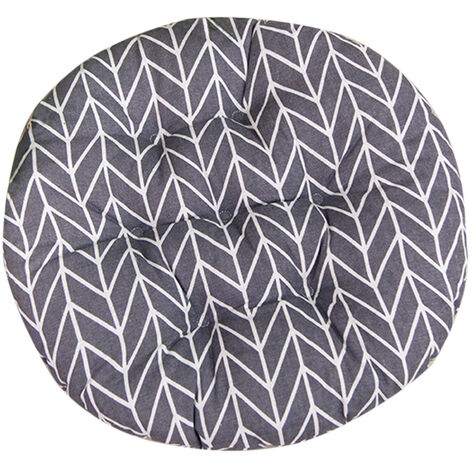Round Seat Cushion Cotton Linen Cushion with Strap for Sofa and Chair