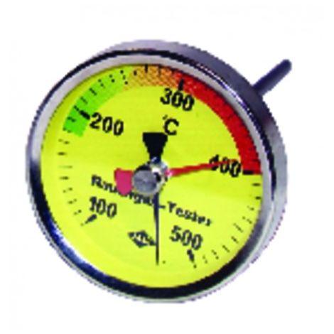 Round smoke thermometer 100 to 500°c ø 80mm