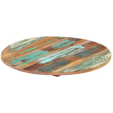 Round Table Top 50 cm 15-16 mm Solid Reclaimed Wood