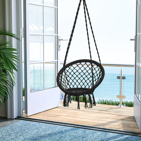 Round tassel hanging chair - garden swing seat, hanging egg chair, garden swing chair