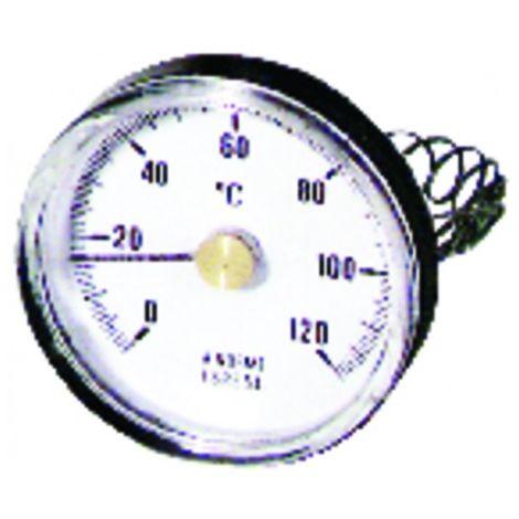 Round thermometer, bracket, build in 0 120°c ø63mm
