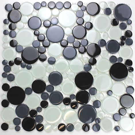 round tile and mosaic pebble for floor and wall mv-ronda