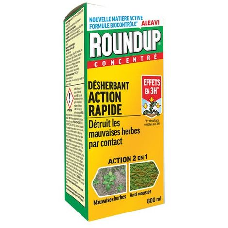 ROUND UP - Désherbant concentré multi-usages - 800 mL