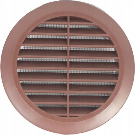 Round ventilation grille fi 100 with a brown mesh New