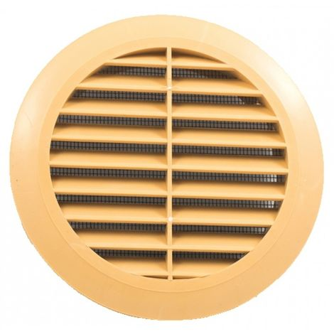 Round ventilation grille fi 100 with beige mesh New